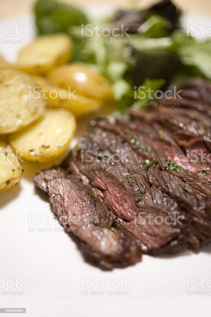 Marinated skirt steak royalty-free stock photo