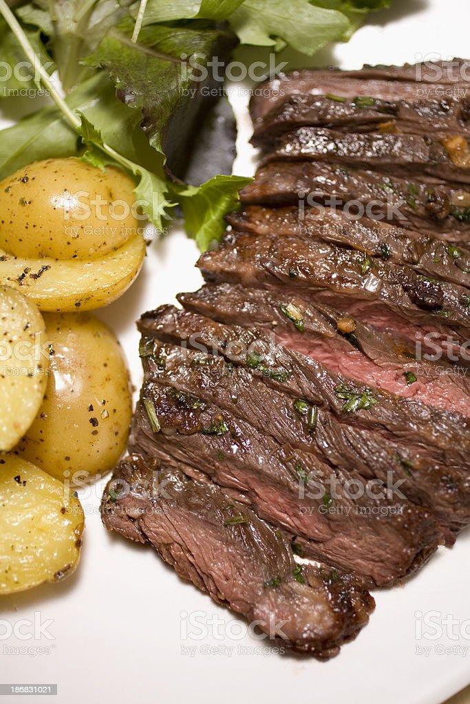 Marinated skirt steak stock photo