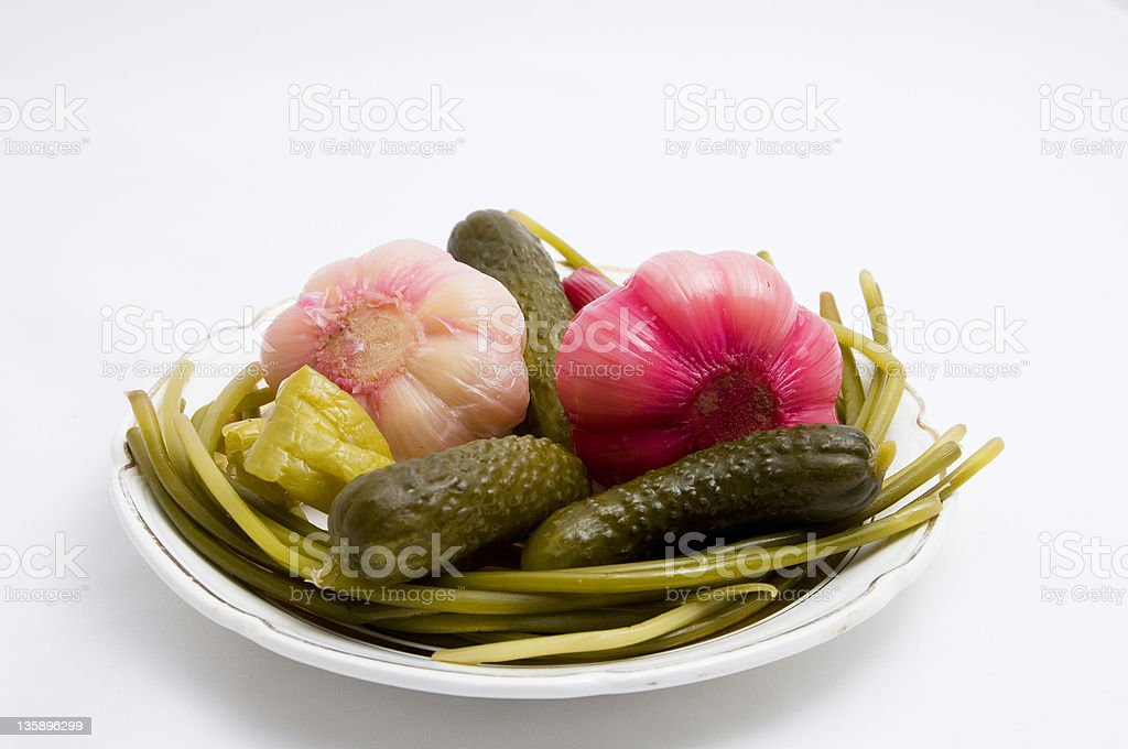 Marinated vegetables royalty-free stock photo