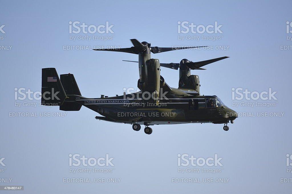 Marine aircraft stock photo