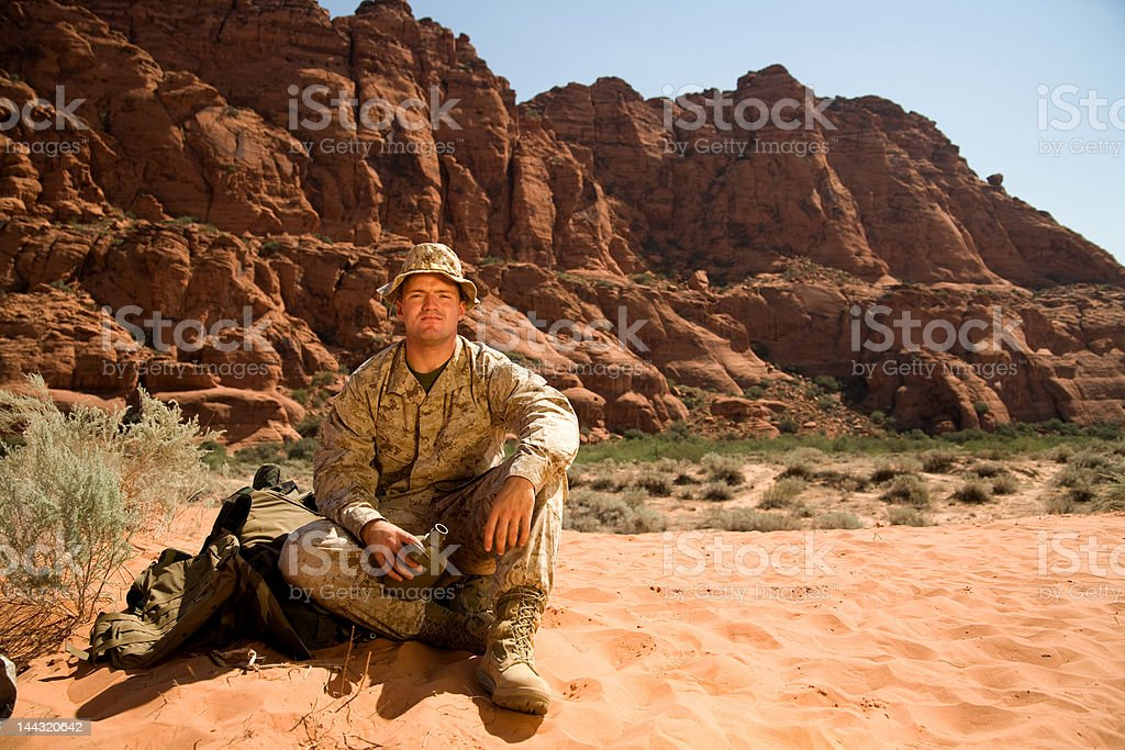 Marine at Rest royalty-free stock photo