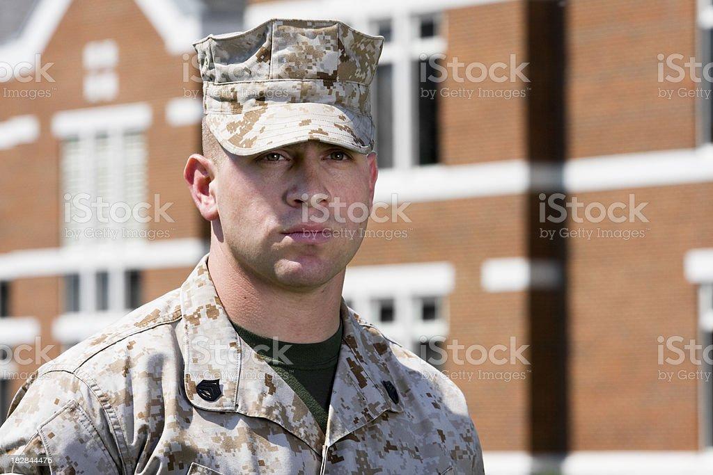 Marine at School royalty-free stock photo