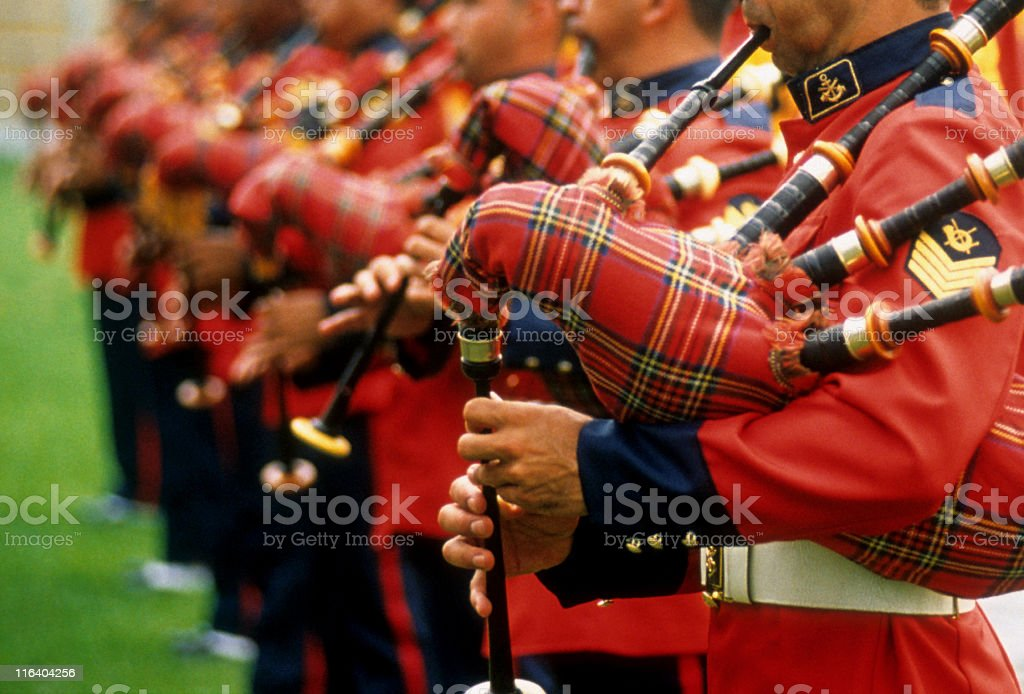Marine band royalty-free stock photo