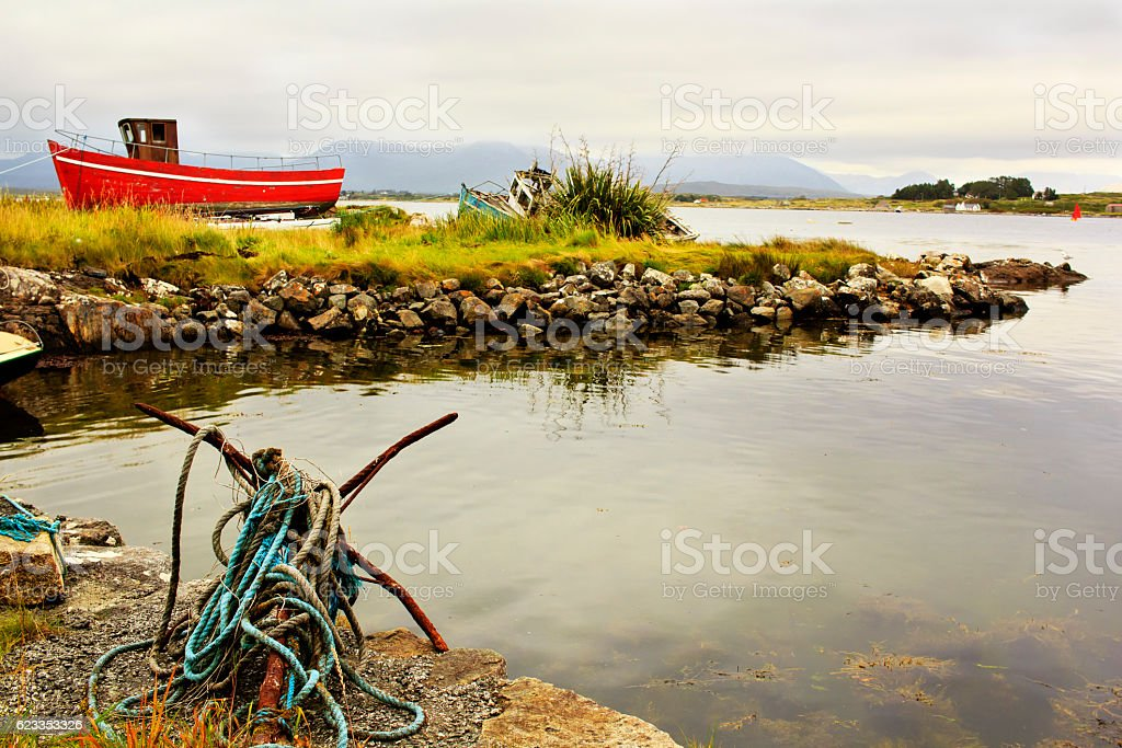 Marine bay in Ireland stock photo