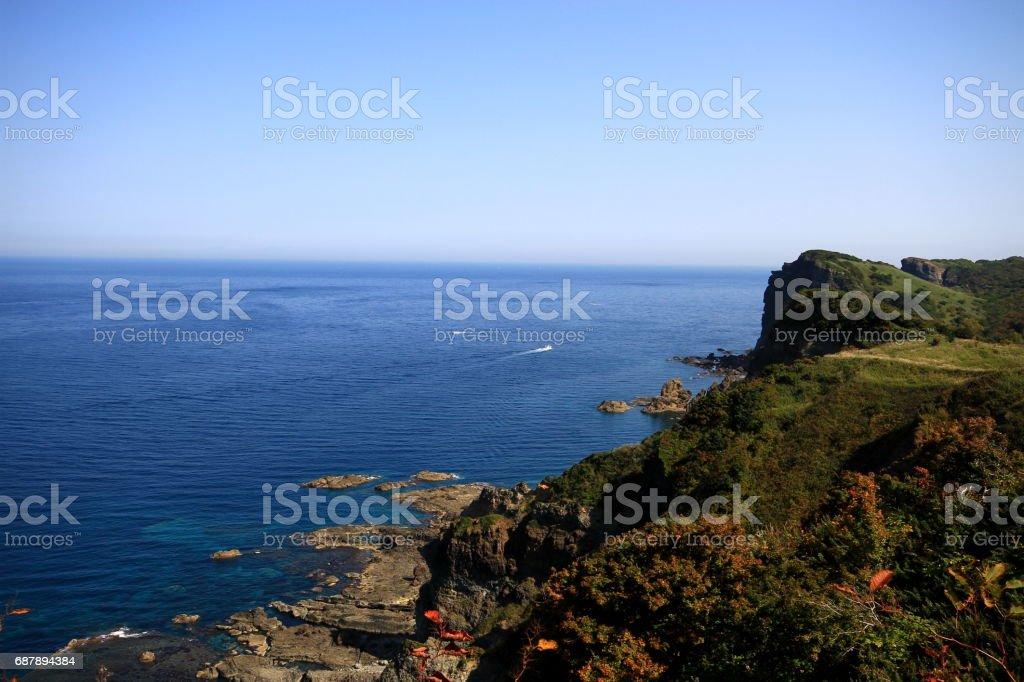 Marine Blue Coast stock photo