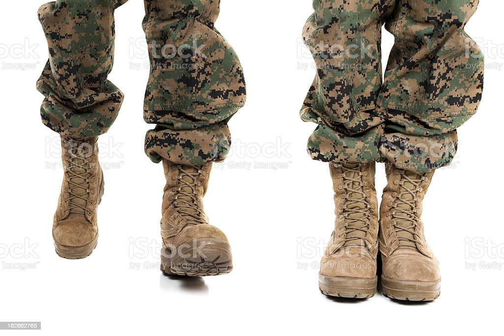 Marine Boots and Legs stock photo