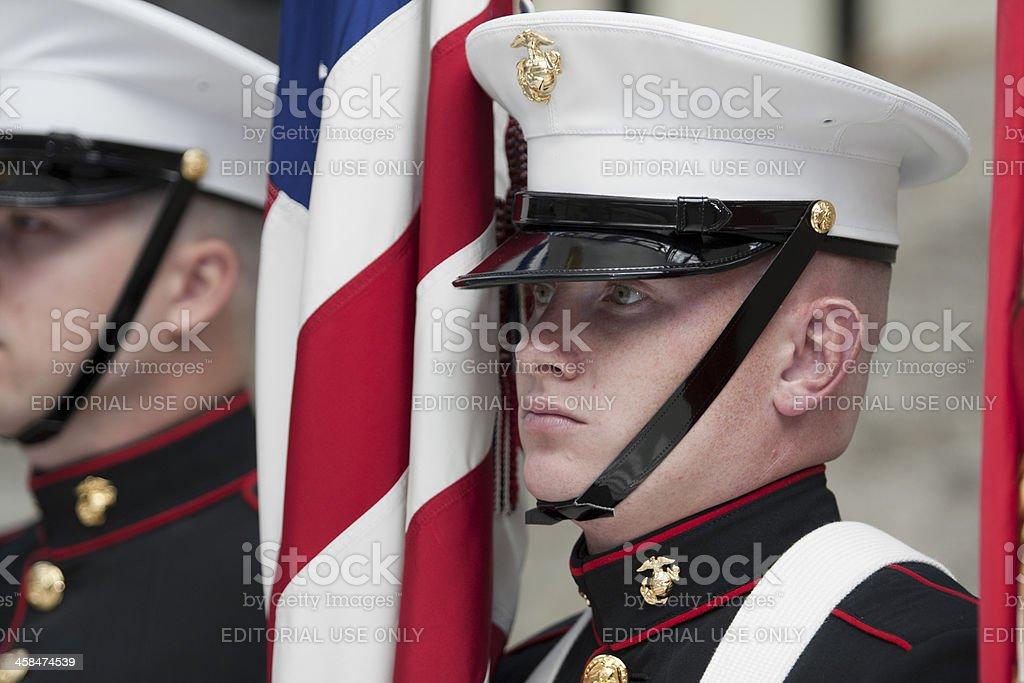 Marine Color Sergeant royalty-free stock photo