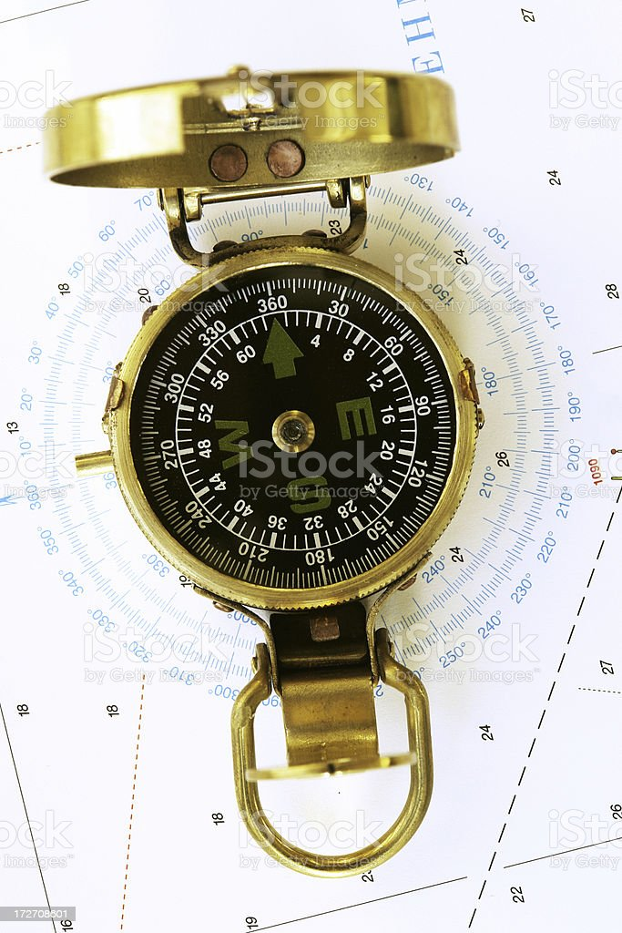 Marine Compass royalty-free stock photo