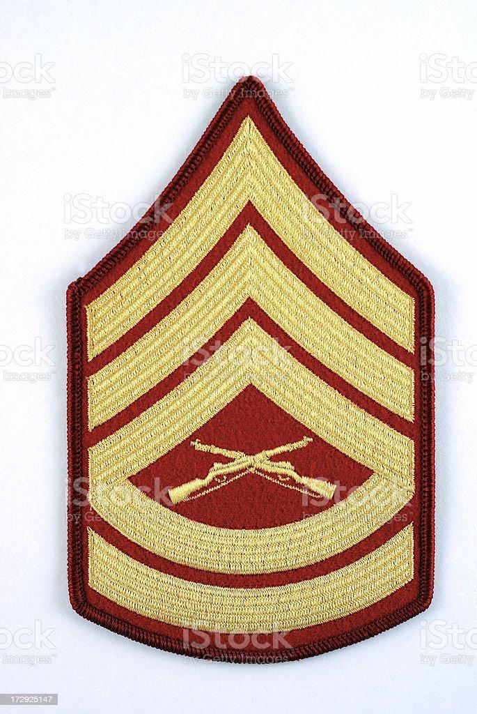 Marine Corp Gunnery Sergeant Rank Insignia royalty-free stock photo