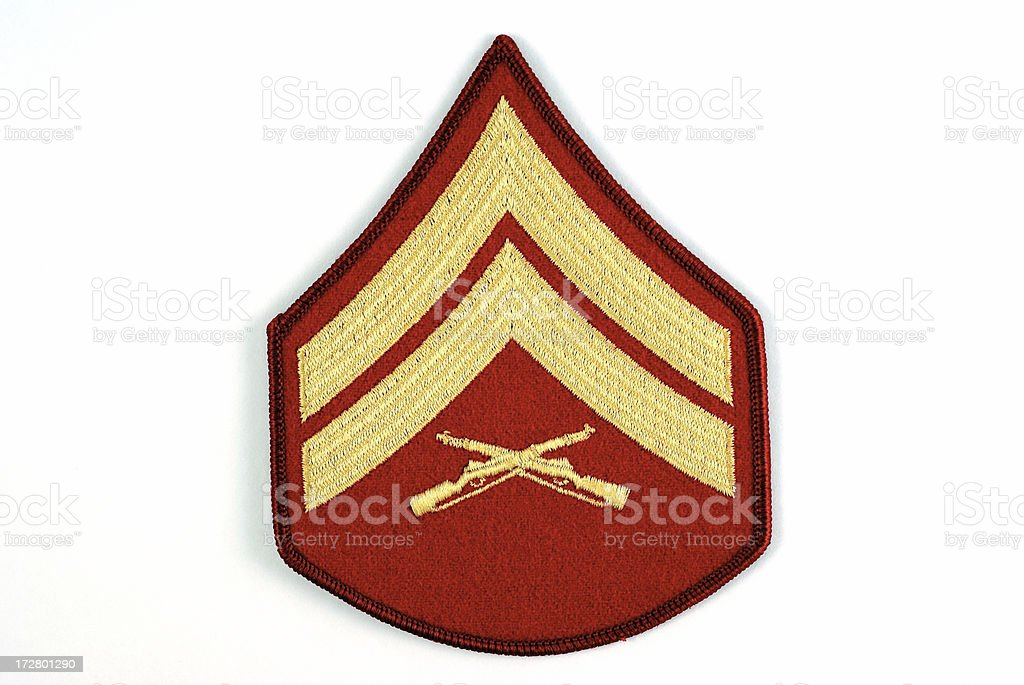 Marine Corporal Rank Insignia royalty-free stock photo
