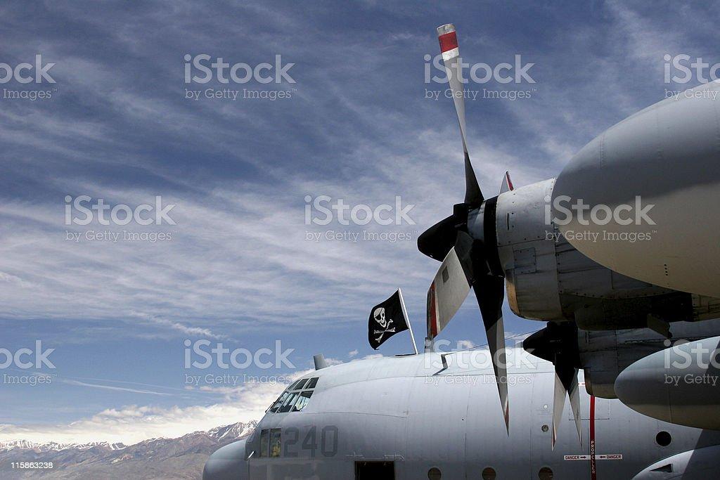 Marine Corps C-130 royalty-free stock photo
