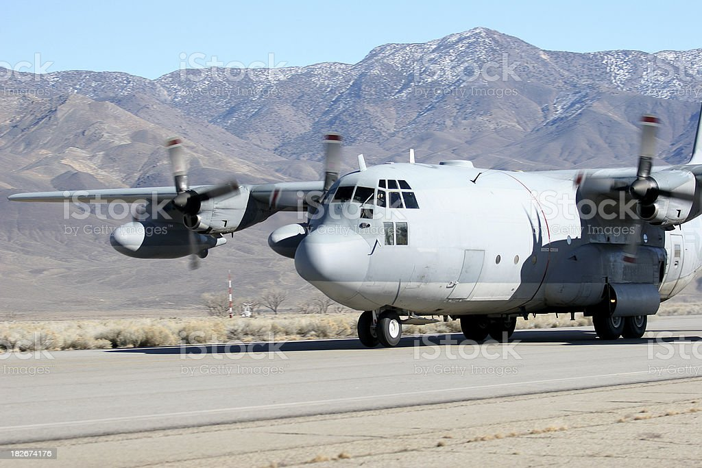 Marine Corps C-130 royalty-free stock photo