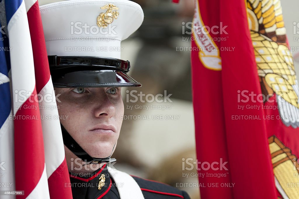 Marine Corps Color Sergeant royalty-free stock photo