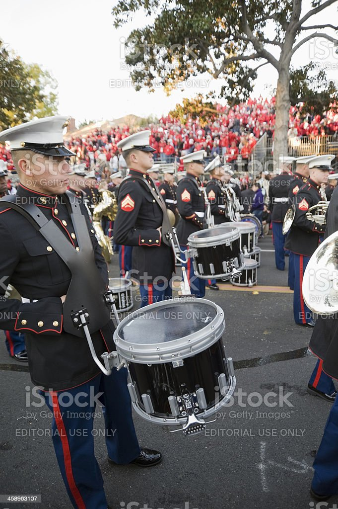 US Marine Corps. Marching Band stock photo