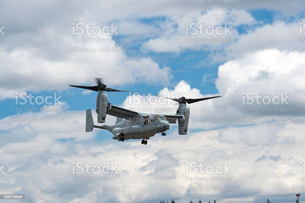 U.S. Marine Corps MV-22 Osprey Helicopter Air Show Hillsboro Oregon stock photo