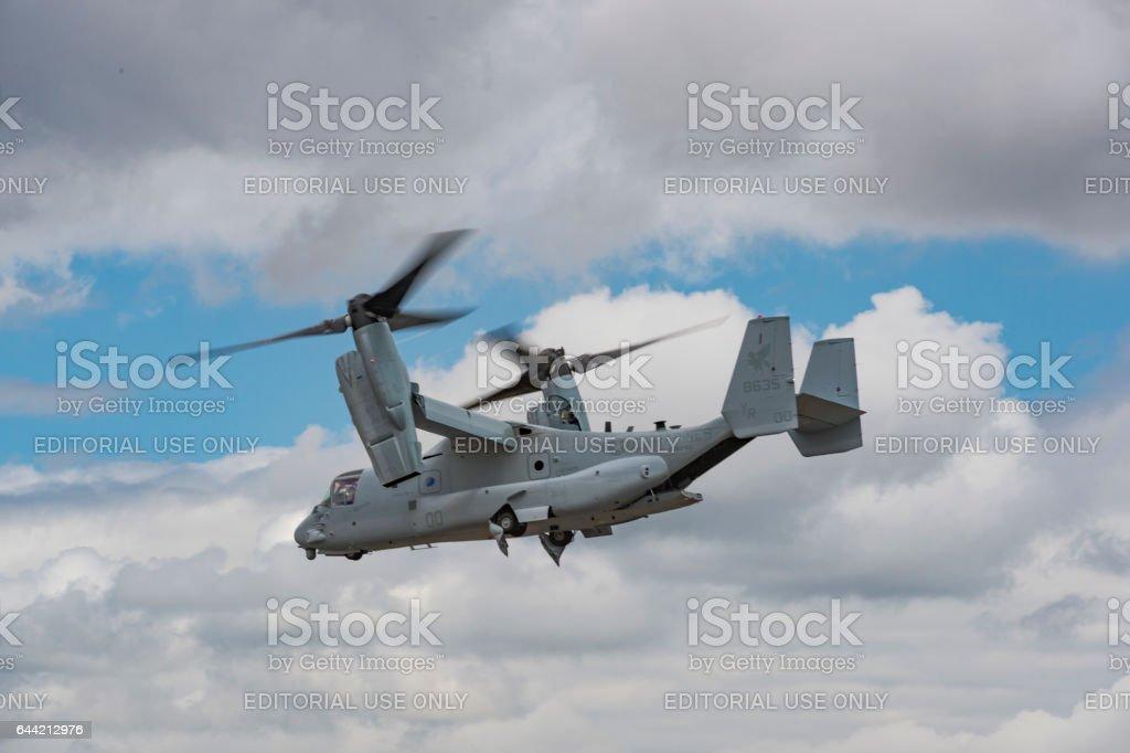 U.S. Marine Corps Osprey MV-22 Helicopter Air Show Hillsboro Oregon stock photo