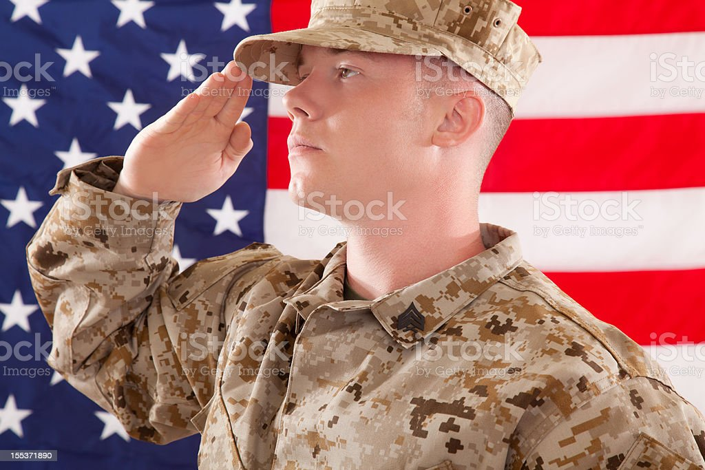 U S Marine Corps Soldier royalty-free stock photo