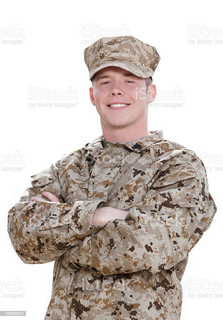 U S Marine Corps soldier Portrait stock photo
