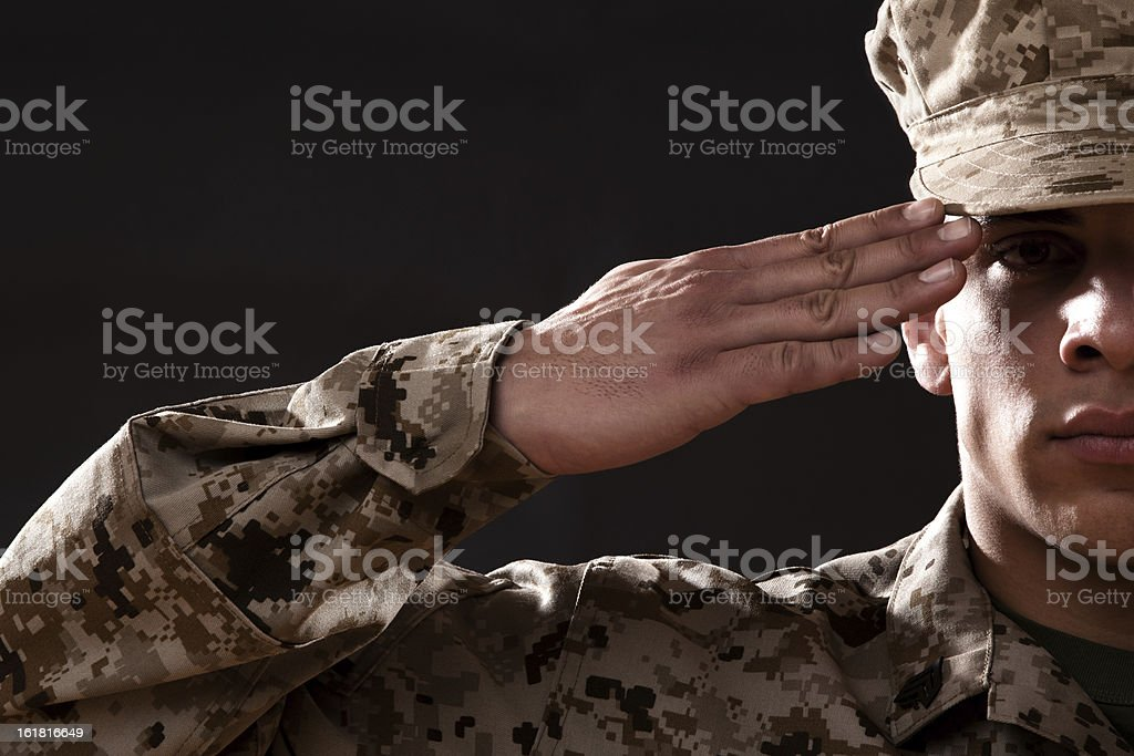 US Marine Corps Solider Portrait stock photo