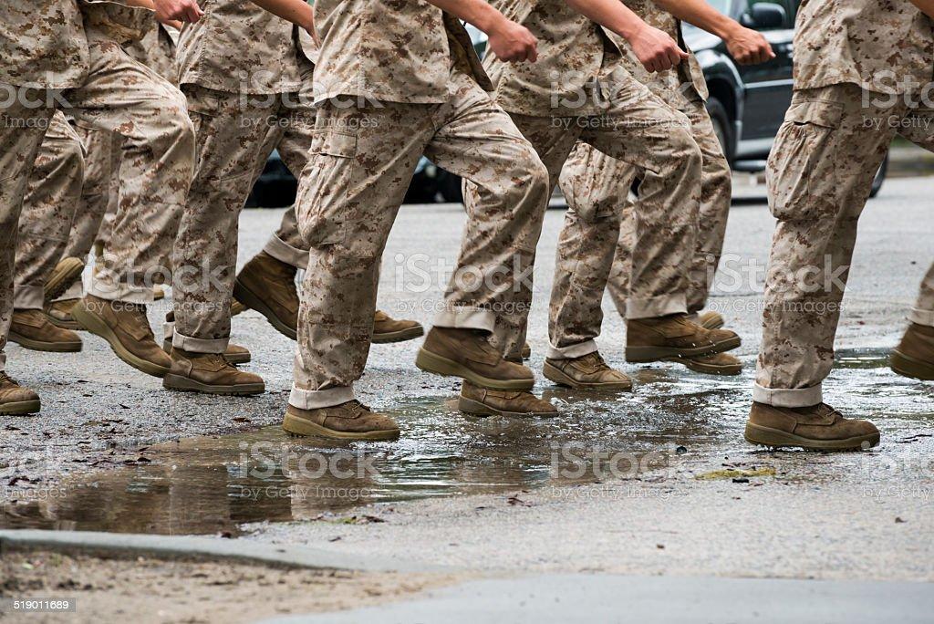 U.S. Marine Corps training - Parris Island, South Carolina stock photo