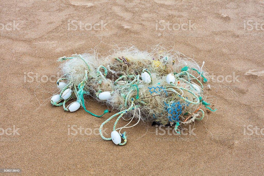 Marine debris stock photo
