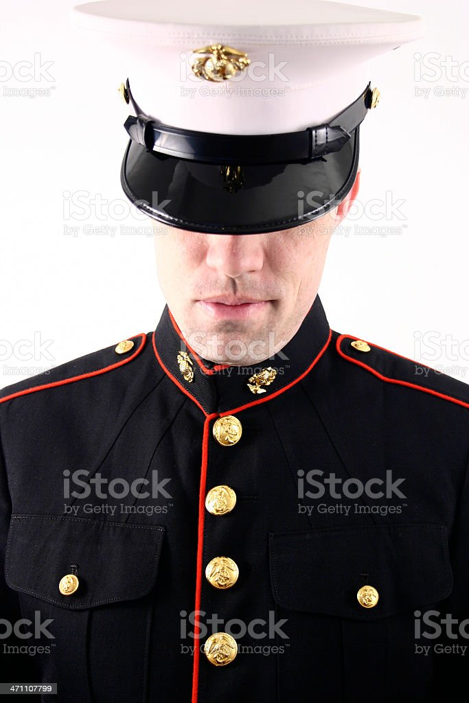 Marine dressed in blues stock photo