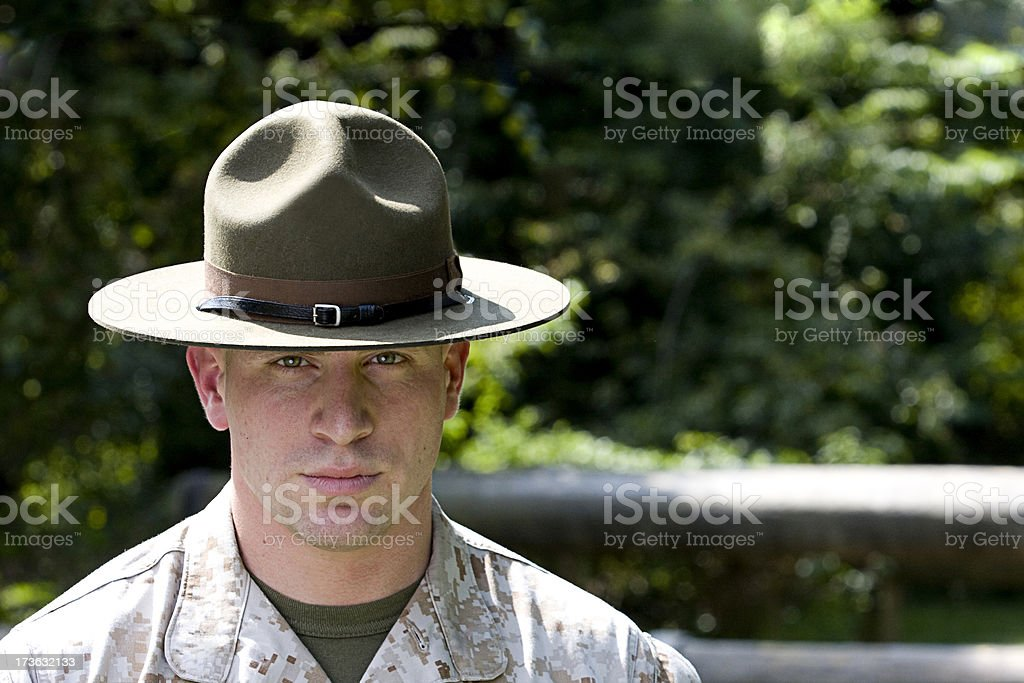 Marine Drill Instructor royalty-free stock photo