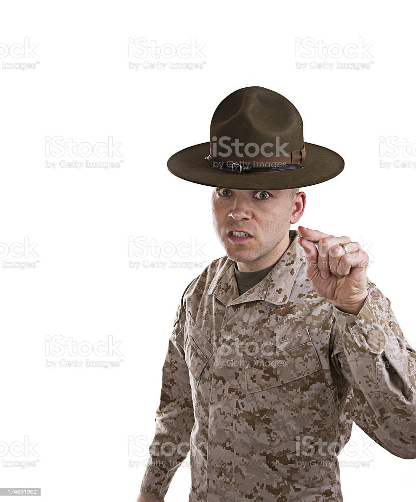Marine Drill Instructor stock photo