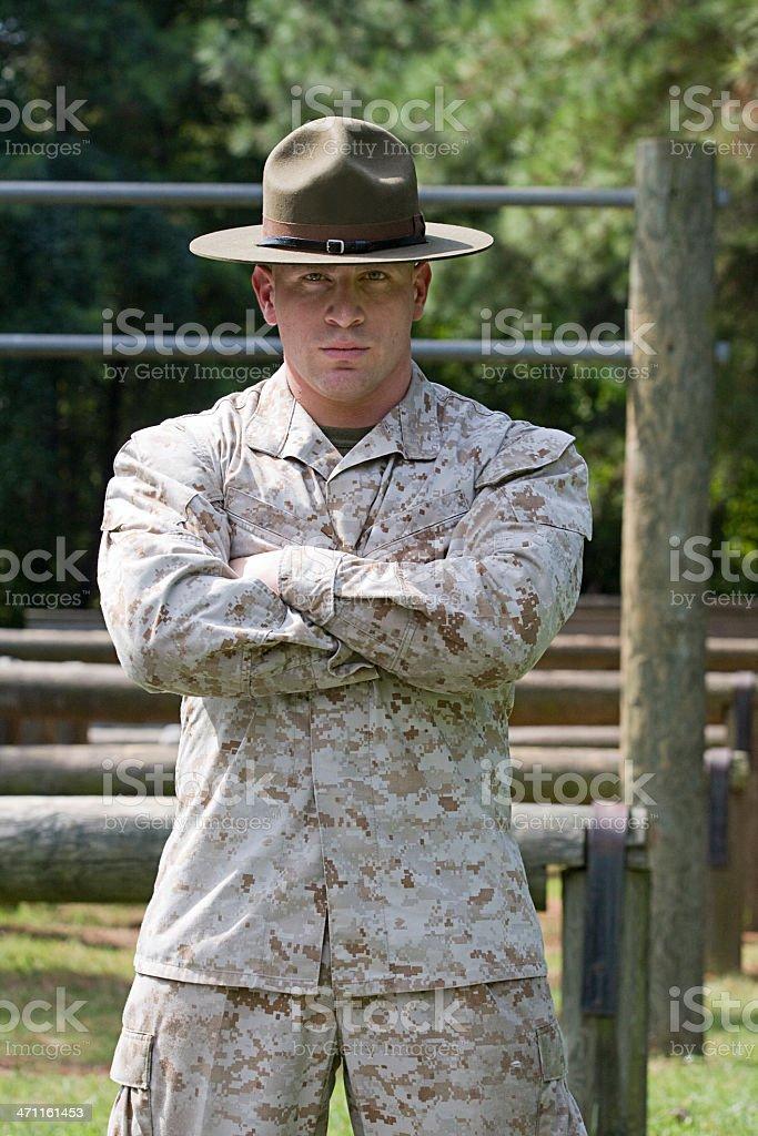 Marine Drill Instructor stock photo
