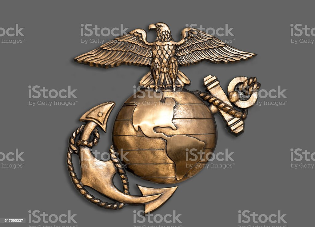 Marine Eagle ,Globe and Anchor. stock photo