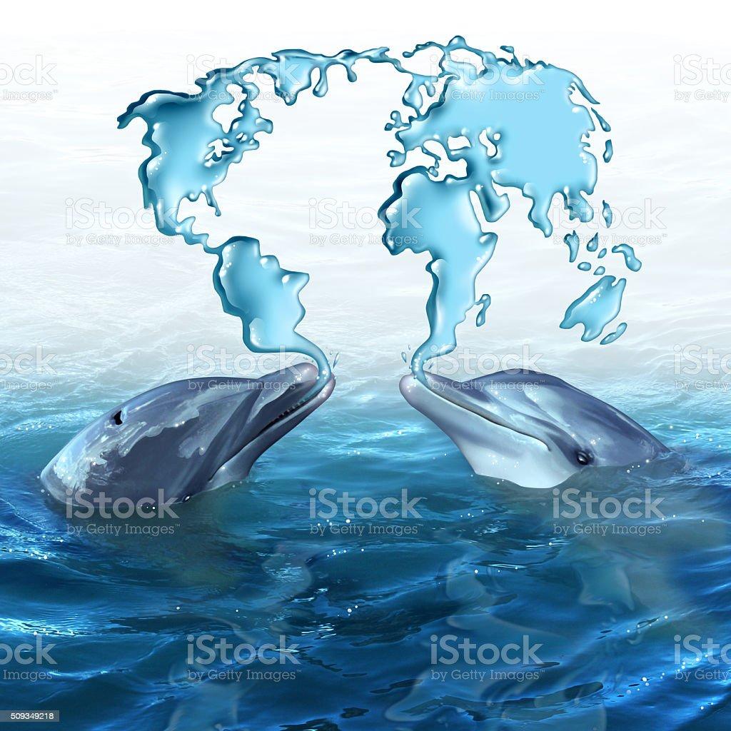 Marine ecology stock photo