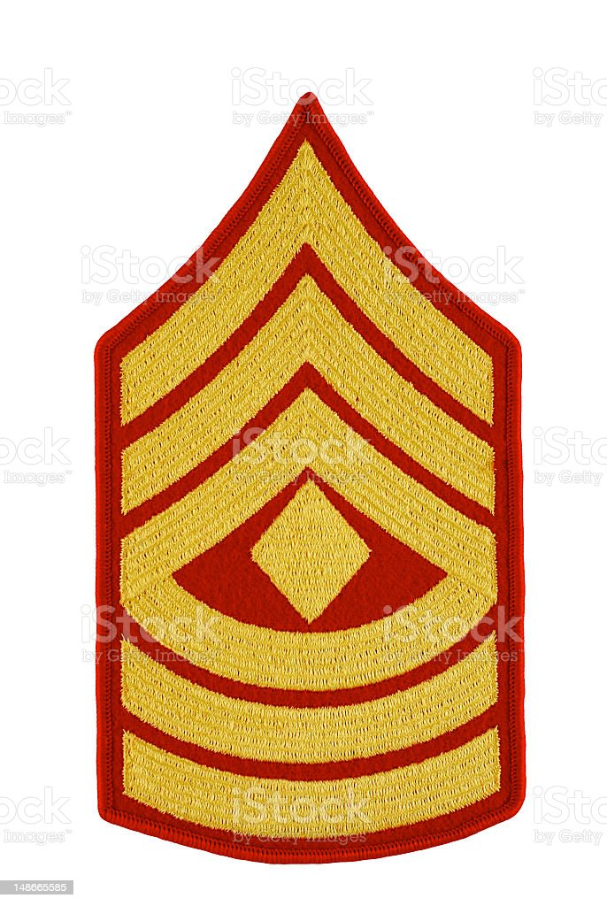 Marine First Sergeant Rank Isolated royalty-free stock photo