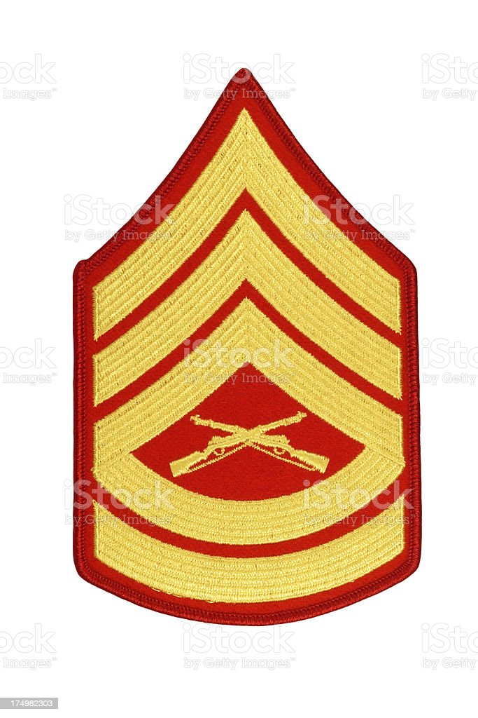 US Marine Gunnery Sergeant Rank Patch royalty-free stock photo