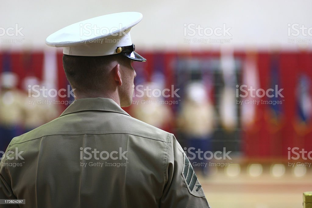Marine in Blues stock photo