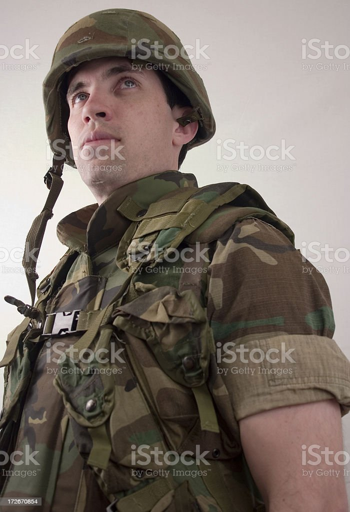 marine in combat gear royalty-free stock photo
