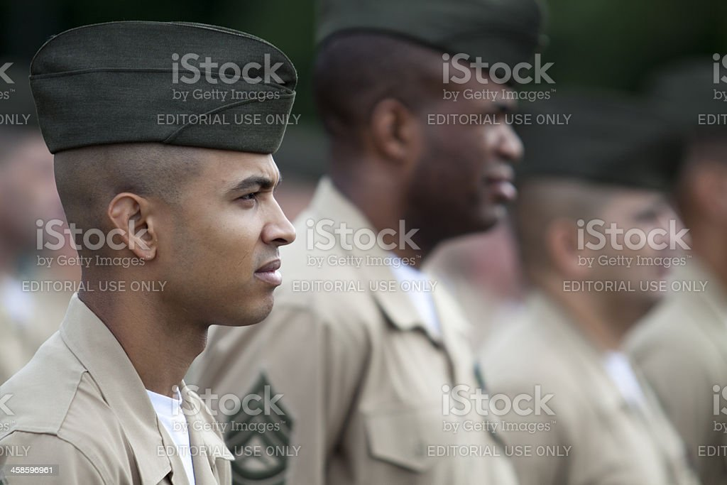 Marine in Formation royalty-free stock photo