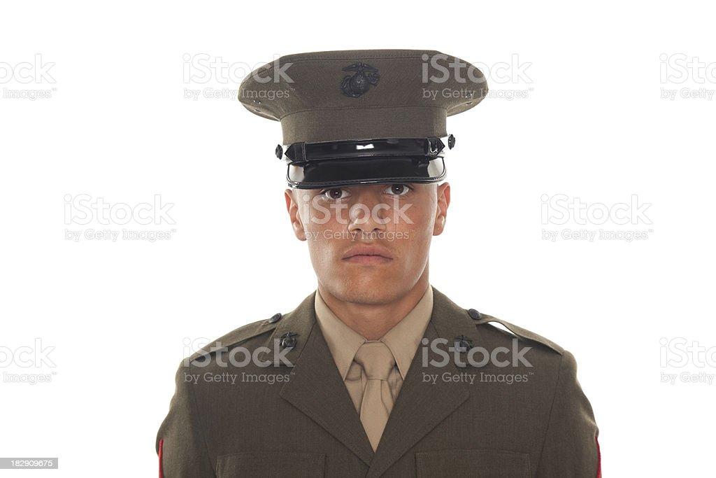 U.S. Marine in Service Uniform royalty-free stock photo