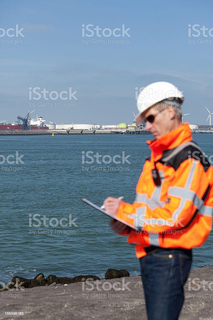 Marine inspector royalty-free stock photo