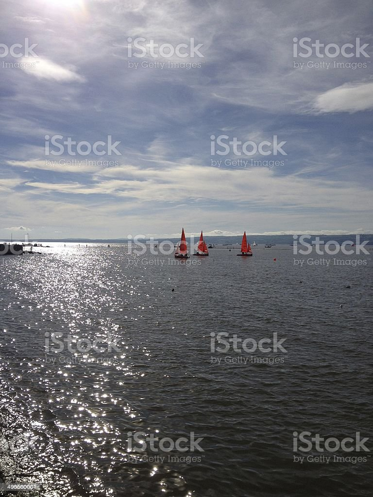 Marine lake royalty-free stock photo
