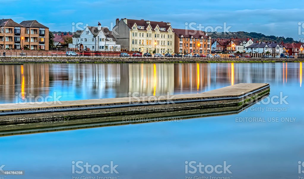 Marine Lake, West Kirby, Merseyside stock photo