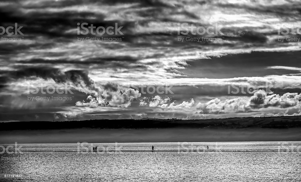 Marine Lake, West kirkby, Wirral stock photo