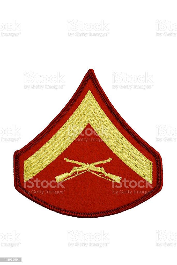 Marine Lance Corporal Rank Insignia Isolated royalty-free stock photo