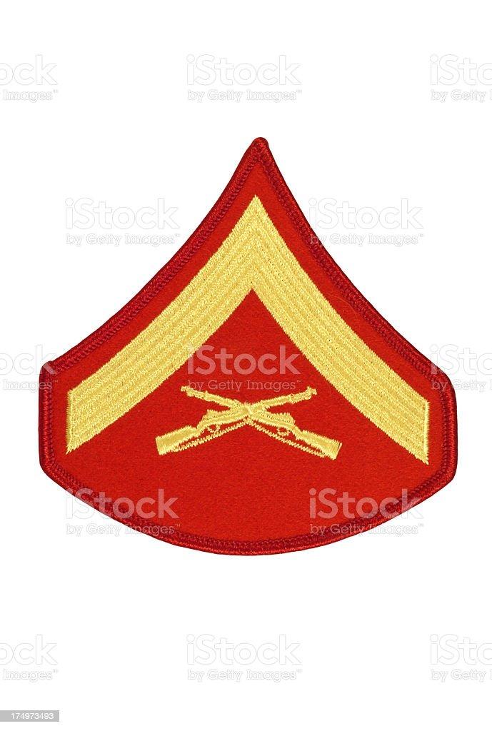 US Marine Lance Corporal Rank Patch royalty-free stock photo