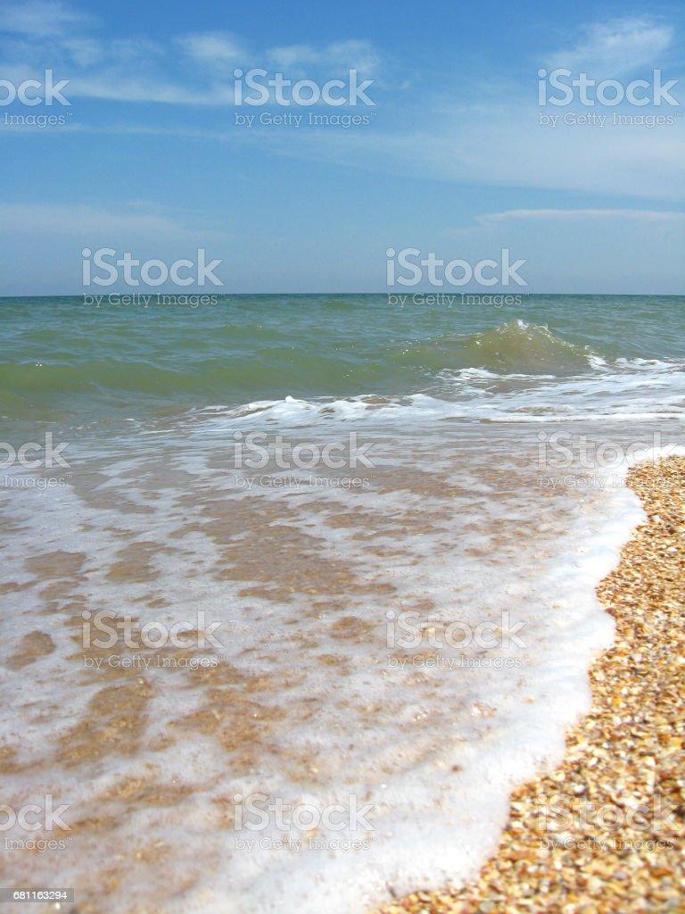 marine landscape with waves stock photo