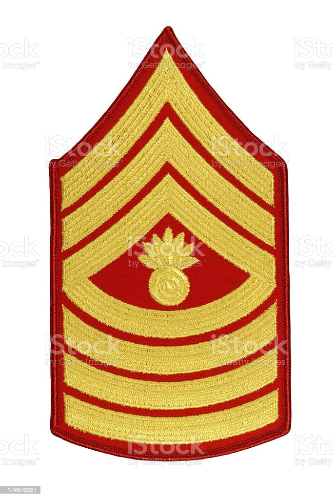 US Marine Master Gunner Sergeant Rank Patch royalty-free stock photo