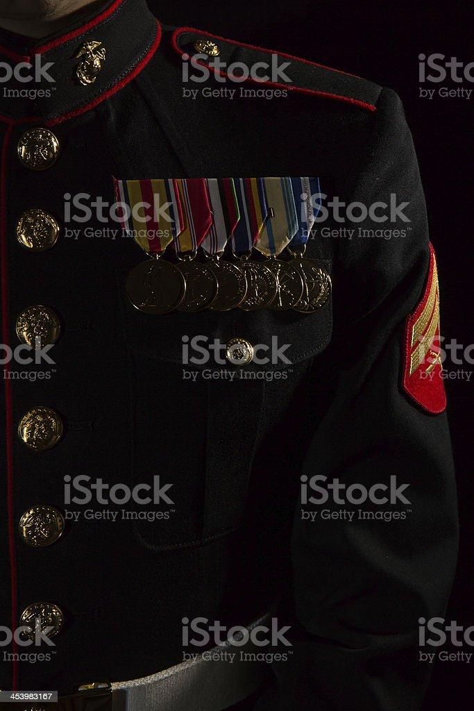 U.S. Marine Medals royalty-free stock photo