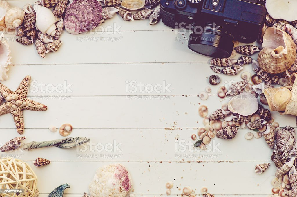 marine mockup stock photo
