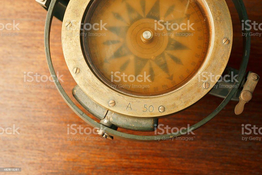 Marine - Nautical Compass stock photo