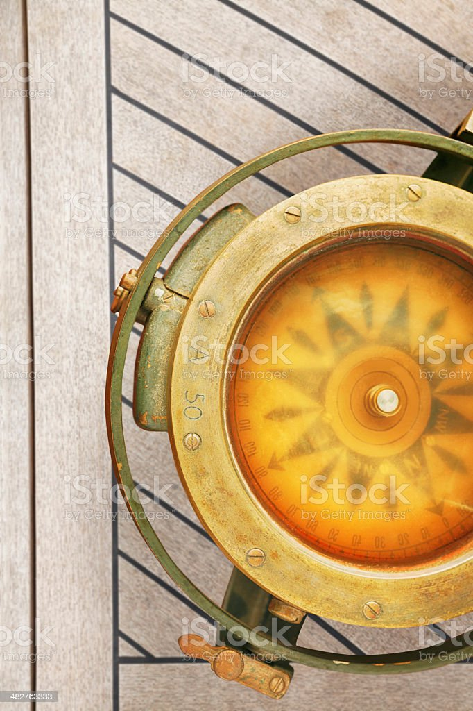 Marine - Nautical Compass royalty-free stock photo