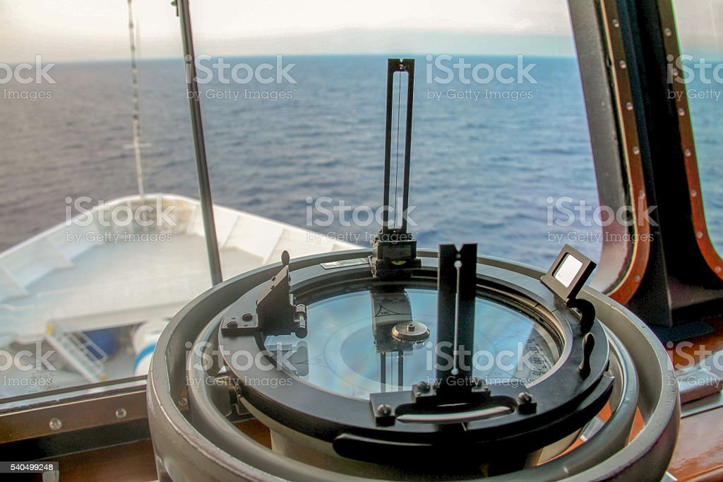 Marine Navigational equipment stock photo